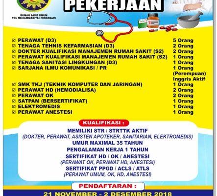 Tingkatkan Pelayanan Rs Pku Muhammadiyah Membuka Lowongan Kerja Infogunungkidul
